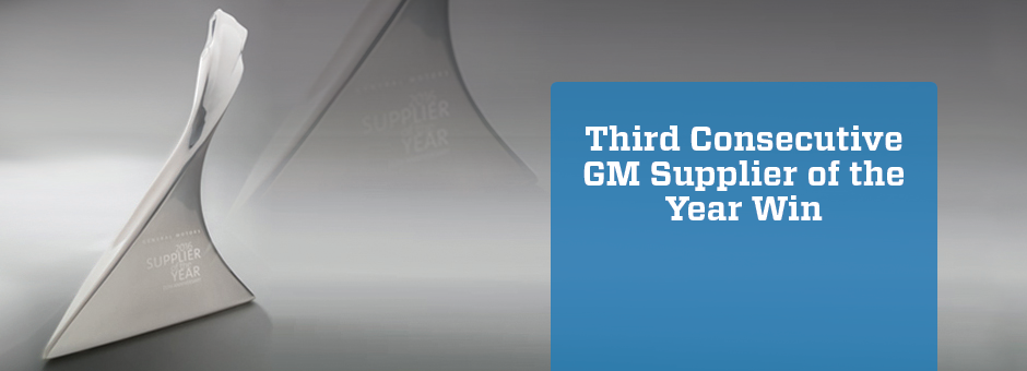 MacLean-Fogg Component Solutions Recognized by General Motors as a 2017 Supplier of the Year Winner